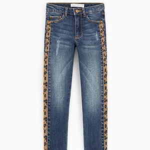 Zara girls slim fit jeans with side stripe